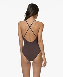 Filippa K Soft Sport Cross-back Swimsuit - Midnight Purple