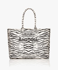 Ragdoll LA Holiday Canvas Zebra Tas - Wit