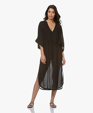 Filippa K Soft Sport Drawstring Beach Kaftan - Black