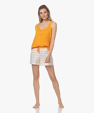 HANRO Laura Modal Blend Jersey Pajama Set - Sunny Stripe