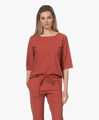 Woman by Earn Danny Tech Jersey T-shirt - Burnt Orange