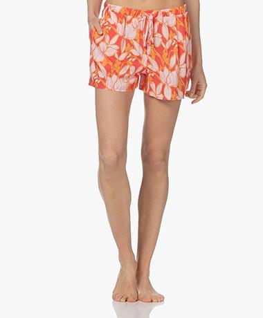 HANRO Sleep & Lounge Printed Pyjamashort - Sunny Flower