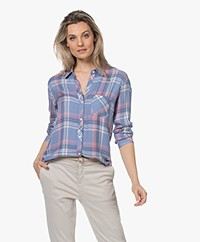 Rails Hunter Geruite Blouse - Harbor Pink