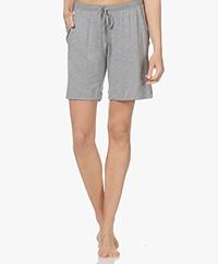 HANRO Natural Elegance Jersey Lounge Shorts - Grey Melange