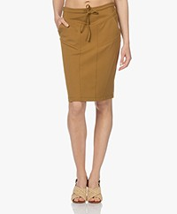 Woman by Earn Hadewych Ponte Jersey Pencil Skirt - Mustard