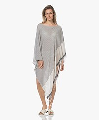 SU Paris Syama Cotton Gauze Kaftan - Ecru/Black