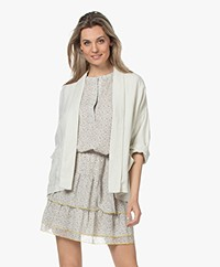 indi & cold Oversized Linnen Kimono Blazer - Ecru