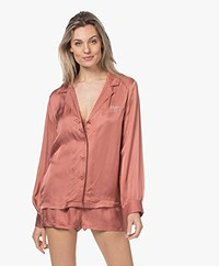 Love Stories Blue Moon Viscose Pajama Shirt - Canyon Rose