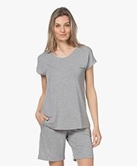 HANRO Natural Elegance T-shirt - Grey Melange
