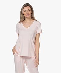 HANRO Modal Blend V-neck T-shirt - Apricot Blush