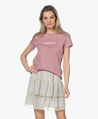 Zadig & Voltaire Zoe Citation Simone T-shirt - Parme
