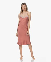 Love Stories Luna Satin Slip Dress - Canyon Rose