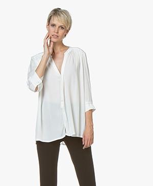Denham Beverley Viscose Blouse - Off-white