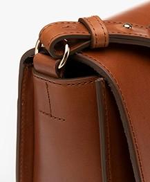 Closed Ally Leather Saddle Bag - Tobacco