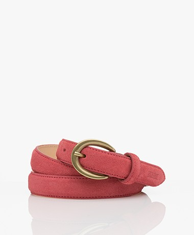 Closed Suede Belt - Hibiscus
