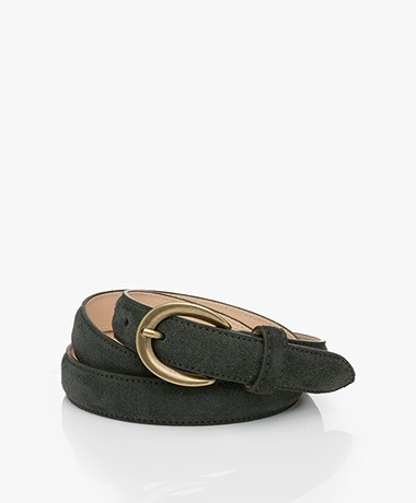 Closed Suede Belt - Sea Tangle