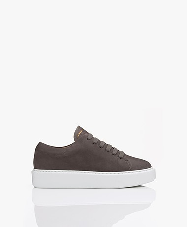 Copenhagen Studios Nubuck Leather Platform Sneakers - Graphite
