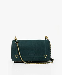 Jerome Dreyfuss Bobi Shoulder/Cross-body Bag - Petrol Green/Vintage Gold