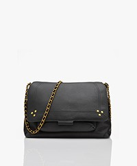 Jerome Dreyfuss Lulu M Leather Shoulder/Cross-body Bag - Black/Vintage Gold