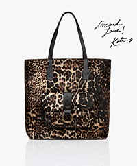 Zadig & Voltaire Kate Leren Shopper - Swan Black