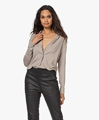 Majestic Filatures Soft Touch Jersey Blouse - Galet