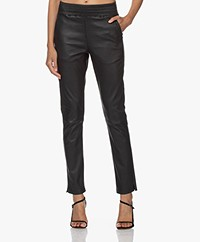 no man's land Leather Pull-on Pants - Core Black