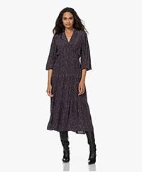 indi & cold Viscose Maxi Dress with Print - Marino