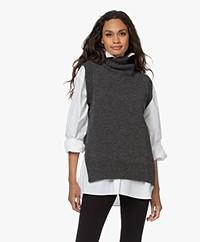 Sibin/Linnebjerg Fiji West Sleeveless Turtleneck Sweater - Anthracite