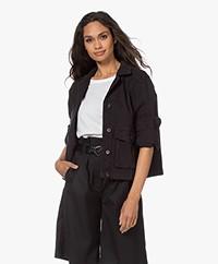 Drykorn Butea Cotton Blend Twill Jacket - Black