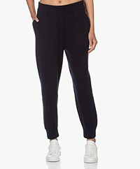 extreme cashmere N°56 Yogi Knitted Cashmere Pants - Navy