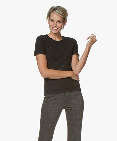 Filippa K Merino Wool T-shirt - Charcoal Mêlee