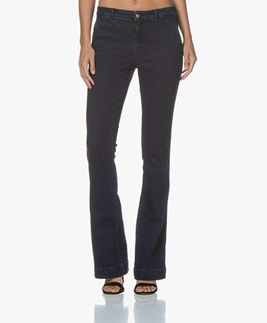by-bar Leila Long Flared Jeans - Dark Denim