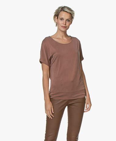 no man's land Cupro Jersey T-shirt - Rose