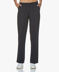 LaSalle Loose-fit Pantalon met Rechte Pijpen - Navy