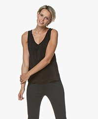 Denham Nora Silk Tank Top - Black