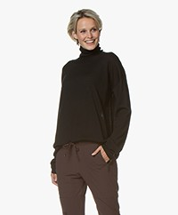 Woman by Earn Ace Turtleneck Sweater in Merino Wool - Black