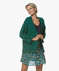 Marie Sixtine Elsa Mohair Blend Button-through Cardigan - Sapin