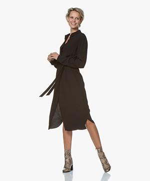 by-bar Jonna Viscose Midi Shirt Dress - Black