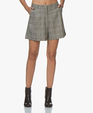 by-bar Lexi Checkered Shorts - Grey
