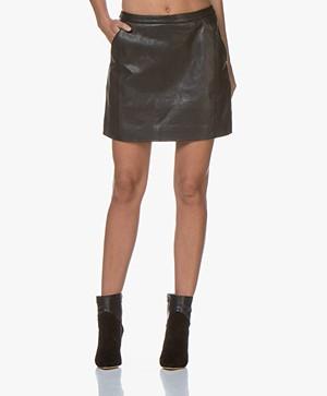 by-bar Lot Leather Mini Skirt - Black