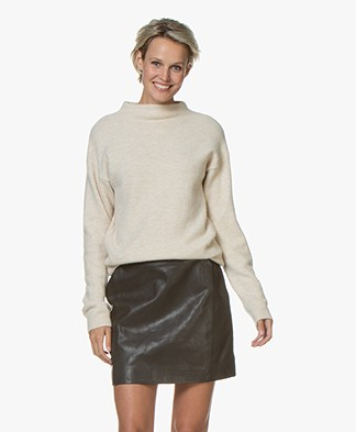 BY-BAR Moss Wool Blend Sweater - Oyster