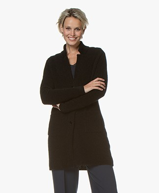 Belluna Moonlight Mid-length Blazer Cardigan - Black