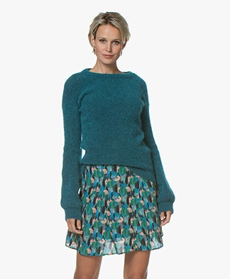 no man's land Sweater with Puff Sleeves - Lagoon