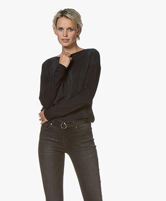Denham Sierra Silk Long Sleeve - Black