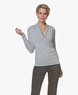 Belluna Benjamin Modal Wrap Long Sleeve - Light Grey