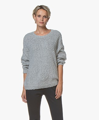 Drykorn Nolima Slub Knit Sweater - Grey Melange