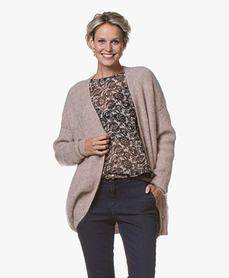 by-bar Elisabeth Oversized Mohair Blend Cardigan - Ash Rose