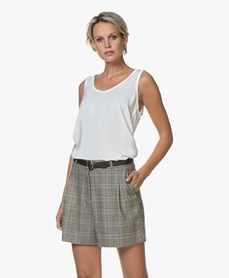 Denham Nora Silk Tank Top - Off-white