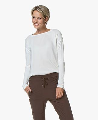 Denham Sierra Silk Long Sleeve - Off-white