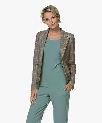 Drykorn Boulder Checkered Blazer - Brown